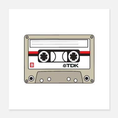 Audio Cassette Tape Audio - Poster 16x16