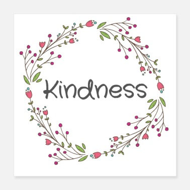 Spiritual Kindness Cute Funny Happy Spiritual Positive Good - Poster