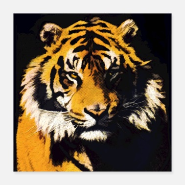 Wildlife Supporters Tiger Tiger - Big Cat Art - Poster