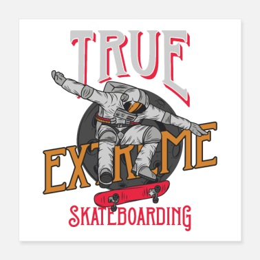 Halfpipe True Extreme Skatebording Outer Space SK8 Halfpipe - Poster