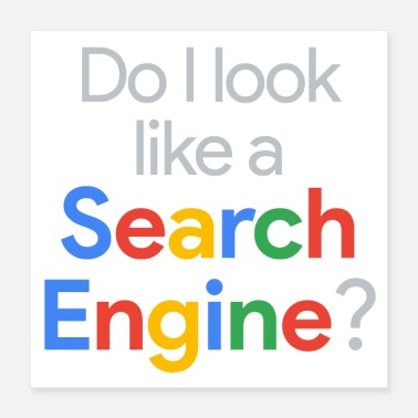 Search Do I Look Like Search Engine? - Poster 16x16