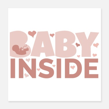 Pregnancy Pregnancy Announcement Baby Inside Fetus pregnant - Poster