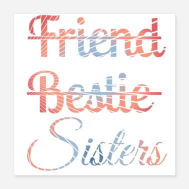 Besties Best Friend Shirts - BFF Shirts - Bestie Shirts - Poster 16x16