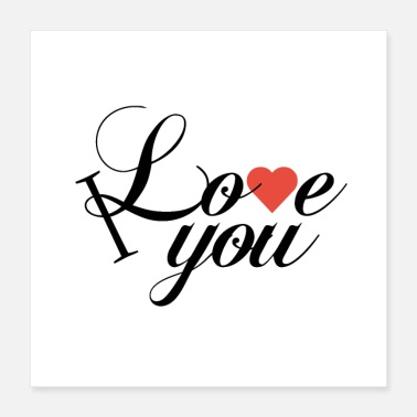 Girlfriend Love Boyfriend Relationships I Love You - Poster 16x16