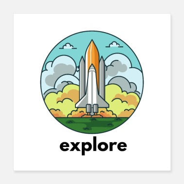 Space Exploration Explore - Poster 16x16