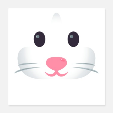 Happy Face Emoticon hamster face - Poster 16x16