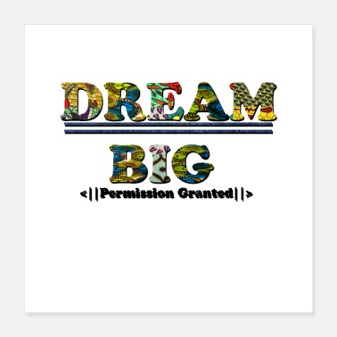 Wedding Shower Dream Big AfroPrint - Poster 16x16
