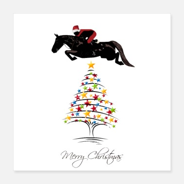 Show Jumping Horse Jumping Christmas - Poster