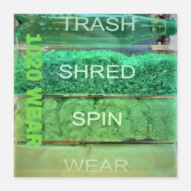 Wear Trash Shred Spin Wear - Poster