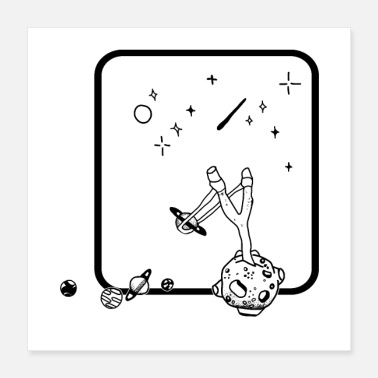 Hunting Moon hunting stars with spring - Poster 16x16