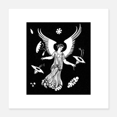 Angelwings Angel picking flowers in Heaven - Poster