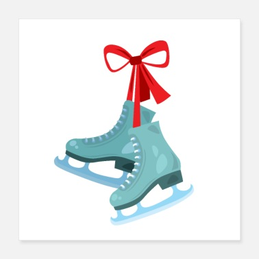 Skate Pair of ice skates with - Poster
