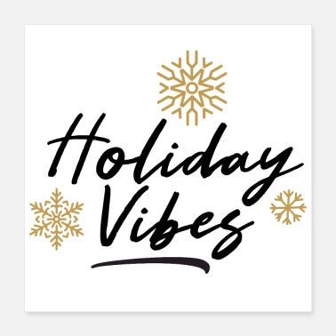 Script Holiday Vibes Snowflake Script Illustration - Poster
