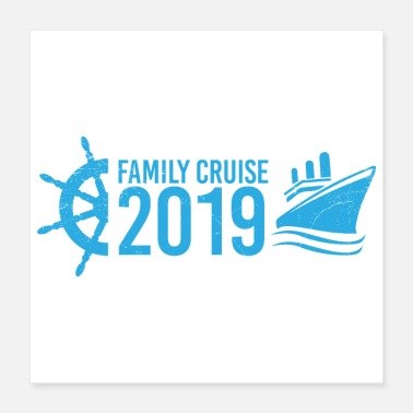 Family Vacation Family Cruise 2019 Vacation Cruise Ship Gift Idea - Poster 16x16