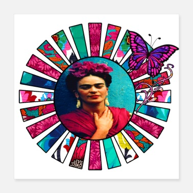 Mexican Kahlo Pink Sun Rays - Poster