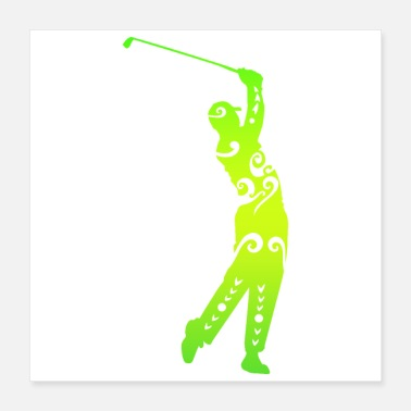 Funny Golf Golf player Maori Style Funny Gift Idea - Poster 16x16