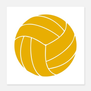 Volley volleyball Ball - Poster 16x16