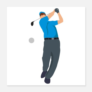 Golf Swing Golf Player Golf Swing Funny Gift Idea - Poster
