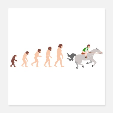 Gallop Evolution Horse Riding Funny Gift Idea - Poster