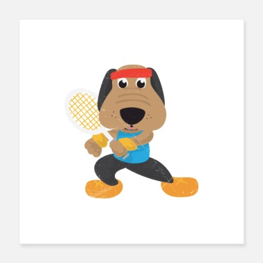 I Love Tennis Hobby Tennis Dog Tennis Player Gift Idea - Poster