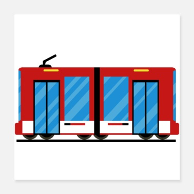 Vehicle Tram, train - Poster