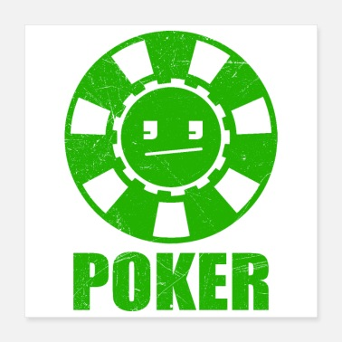 Casino Poker Face Poker Player Funny Gift Idea - Poster