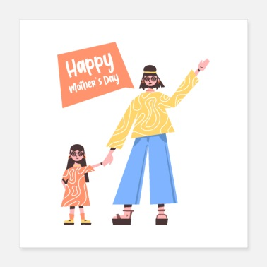 Motherly Love Black Happy Mothers Day - Poster