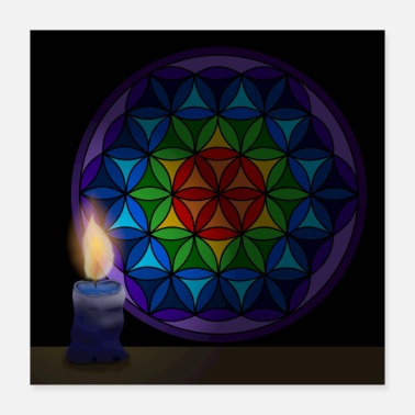 Flower Of Life Flower of life with candle - Poster