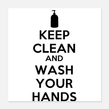 Cleaning Keep clean and wash your hands - Poster