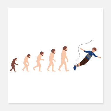 Jumpstyle Evolution Bungee Jumping Funny Gift Idea - Poster