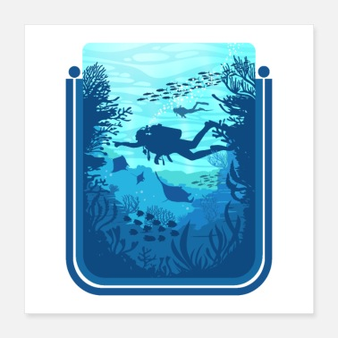 Scuba Scuba Diving on the Reef - Poster