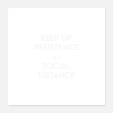 Social Keep Up Social Distancing - Poster