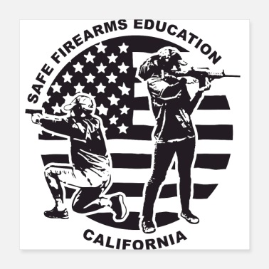 Usage Safe Firearms Education Black 4 All - Poster