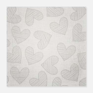 Large Canvas Design with Large Heart Shapes and a Great - Poster