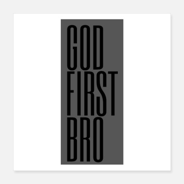 Confiserie God first bro. - Poster