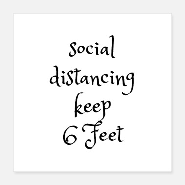 Social Distancing Prem Socially distancing keep the distance 6 feets - Poster