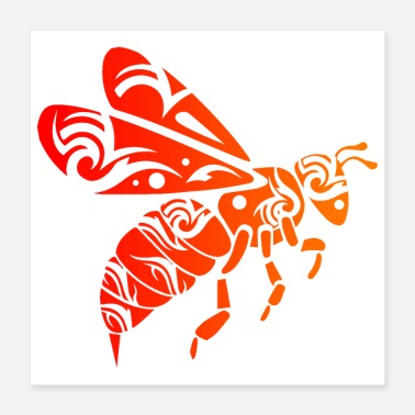 Bee Hive Tribal Tattoo Bee Funny Gift Idea - Poster