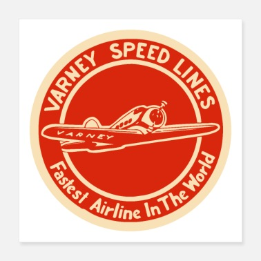 Airline Varney Speed Lines - Poster