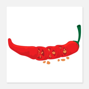 Chilli Hot Chilli Spicy Food Lover Funny Gift Idea - Poster