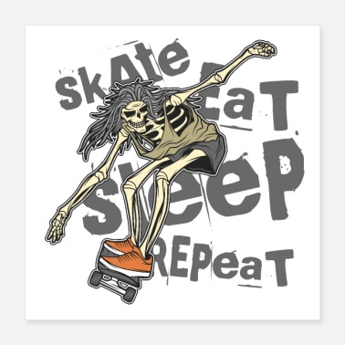 Boarders Skate eat sleep repeat - Poster