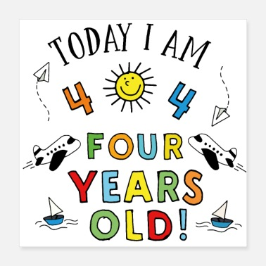 Four Four years old - Poster