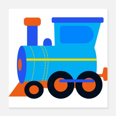 Locomotive Locomotive, train, steam engine, rail - Poster