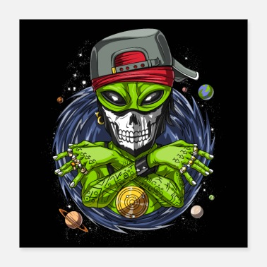 Rappers Alien Rapper - Poster