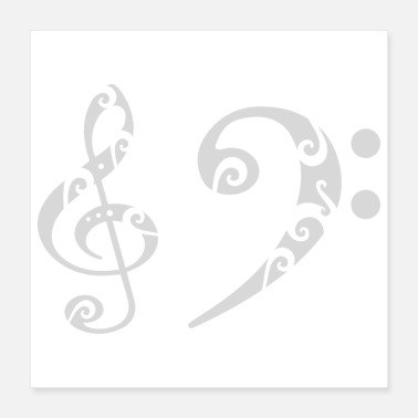 Bass Bass note clef note Musician Tribal Gift Idea - Poster