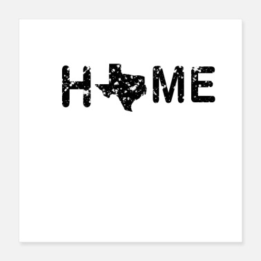 Holdem Home Texas Map - Poster