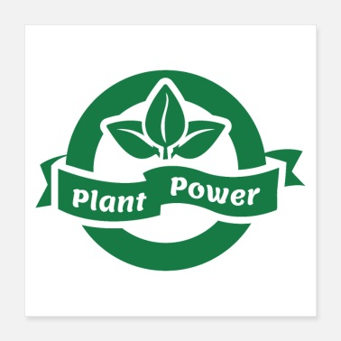 Plant plant power green badge - Poster