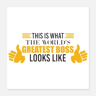 Humour Office Humour World's Greatest Boss Funny Gift - Poster