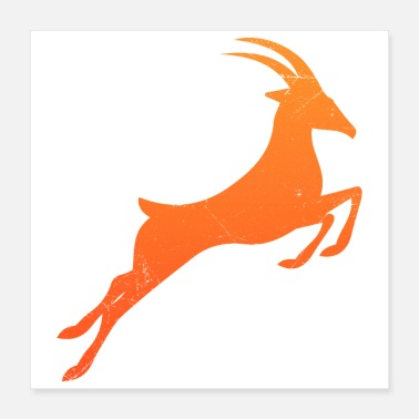Springbok Symbol South Africa Springbok Tribal Tattoo Gift - Poster