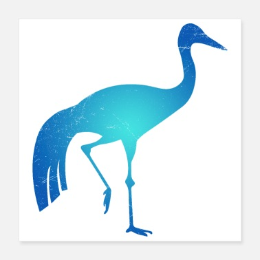 South African Symbol South Africa Blue Crane Tribal Tattoo Gift - Poster