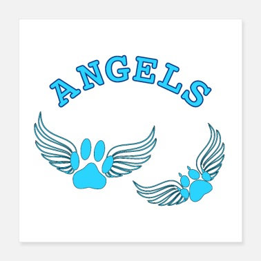 Foot Print Angel Pet Paw Prints - Poster